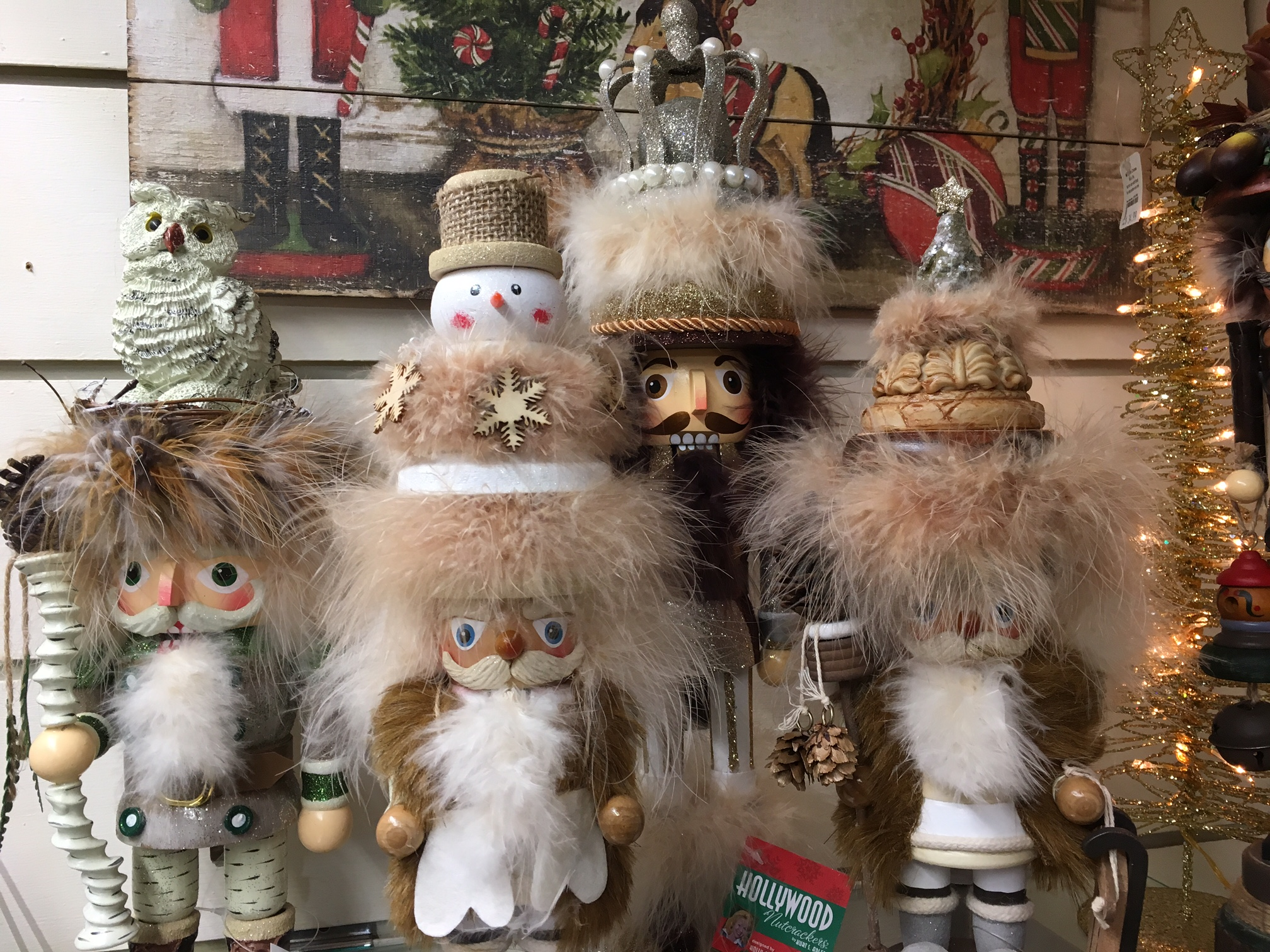 Nutcrackers with fur