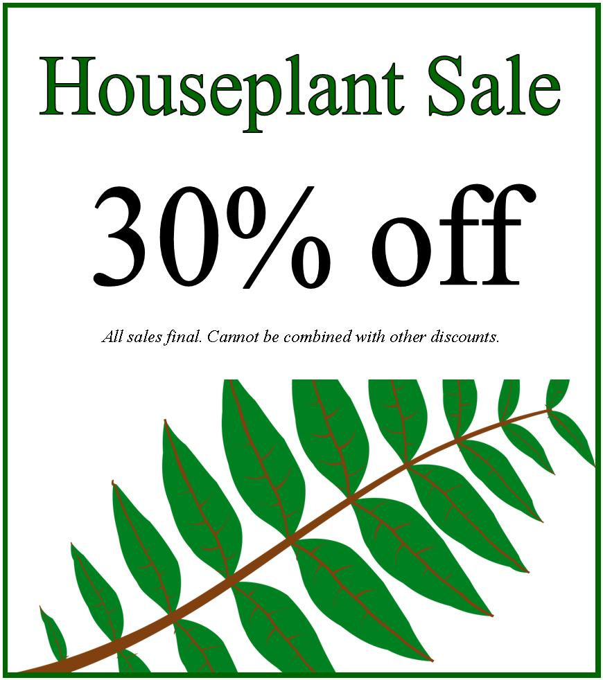 Houseplant Sale 1-16-16